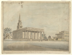 North East view of the new Church [i.e. St. John's] at Calcutta